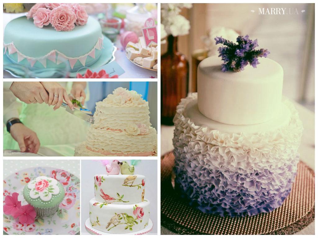 Свадебные стильные торты