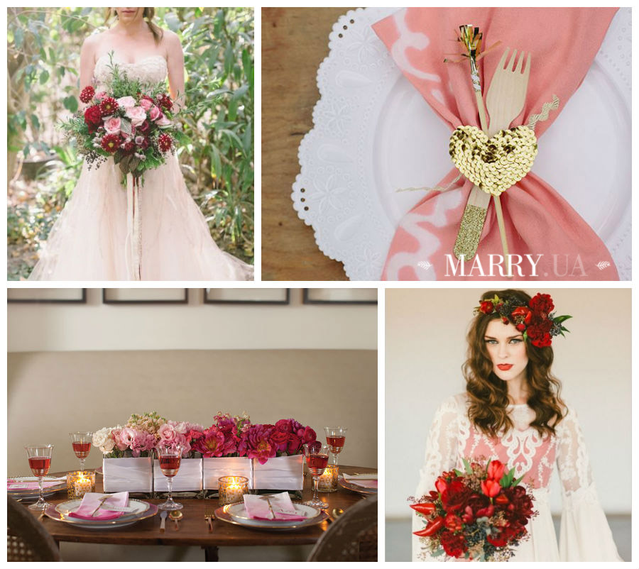 Valentines day wedding photo ideas and inspiration - hearts, narrows, love pink and red (1)