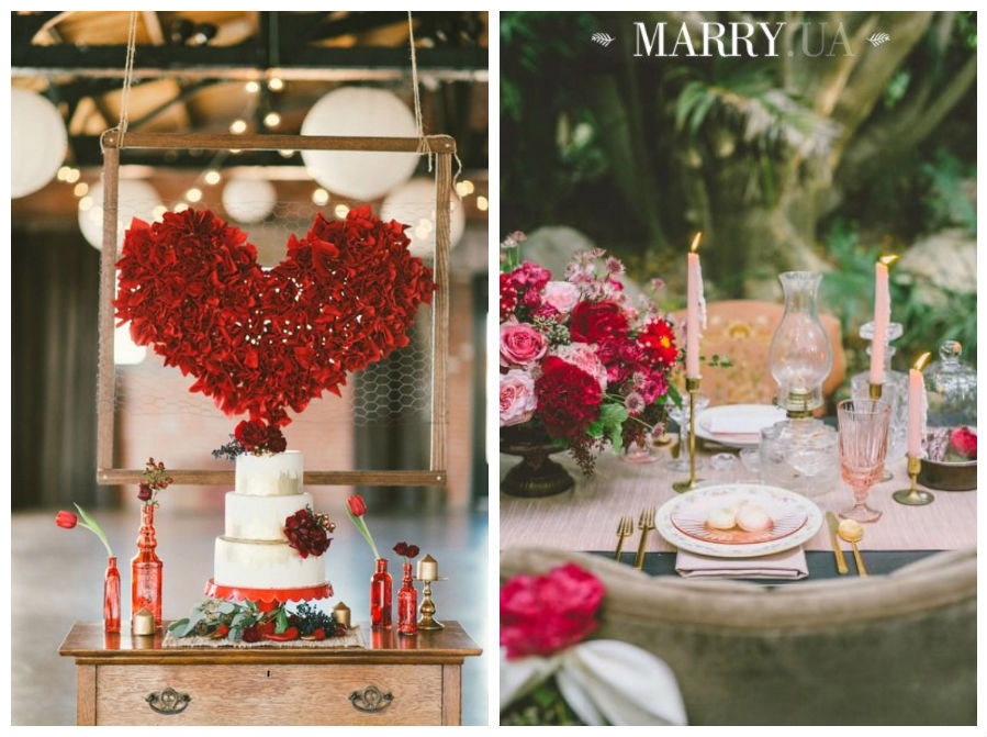 Valentines day wedding photo ideas and inspiration - hearts, narrows, love pink and red (12)