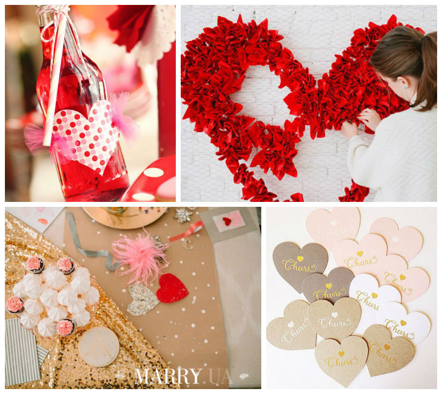 Valentines day wedding photo ideas and inspiration - hearts, narrows, love pink and red (2)