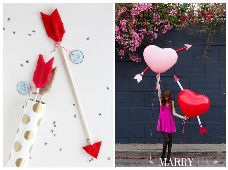Valentines day wedding photo ideas and inspiration - hearts, narrows, love pink and red (4)