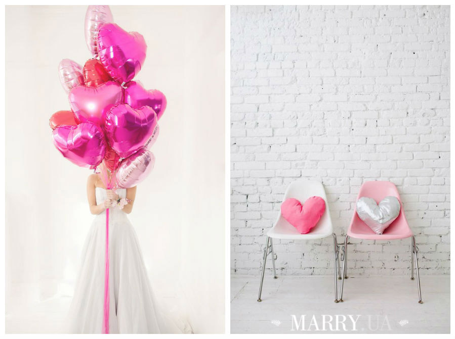 Valentines day wedding photo ideas and inspiration - hearts, narrows, love pink and red (9)