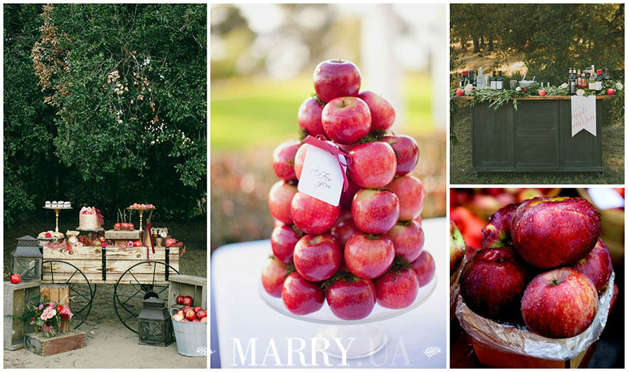 apple wedding bar