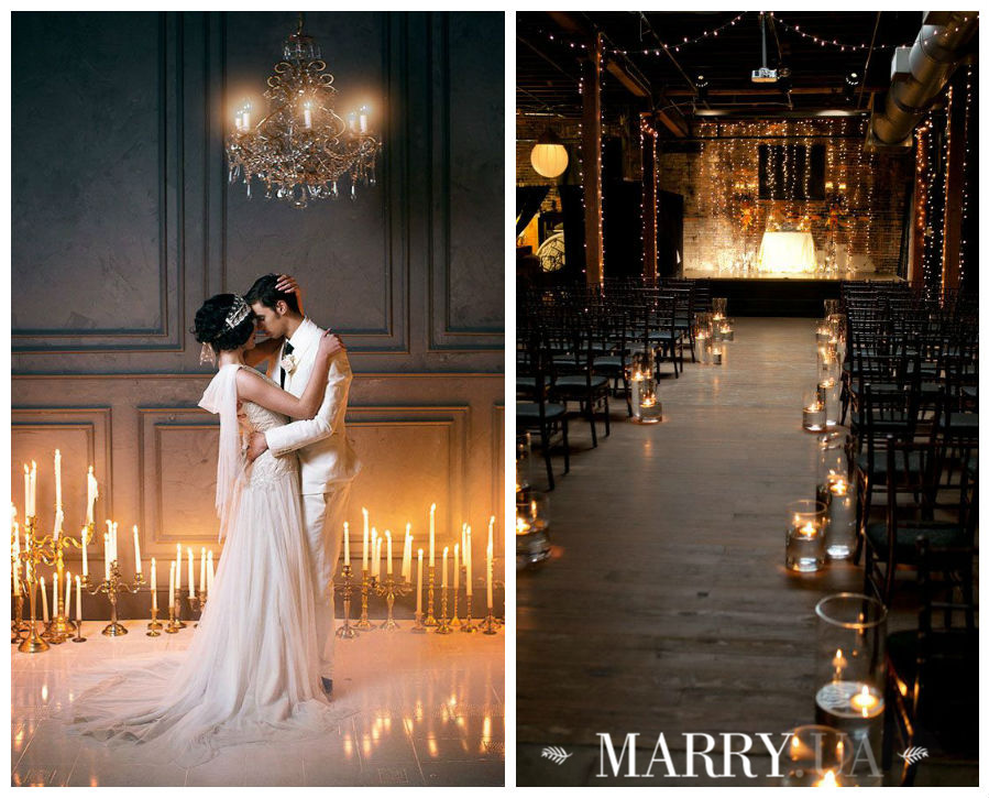Winter ceremony light, loft decoration photo