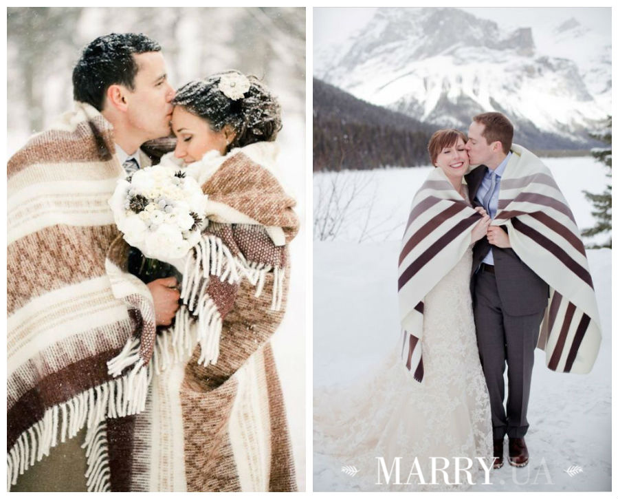Winter wedding photo shooting plaid and blanket (2)