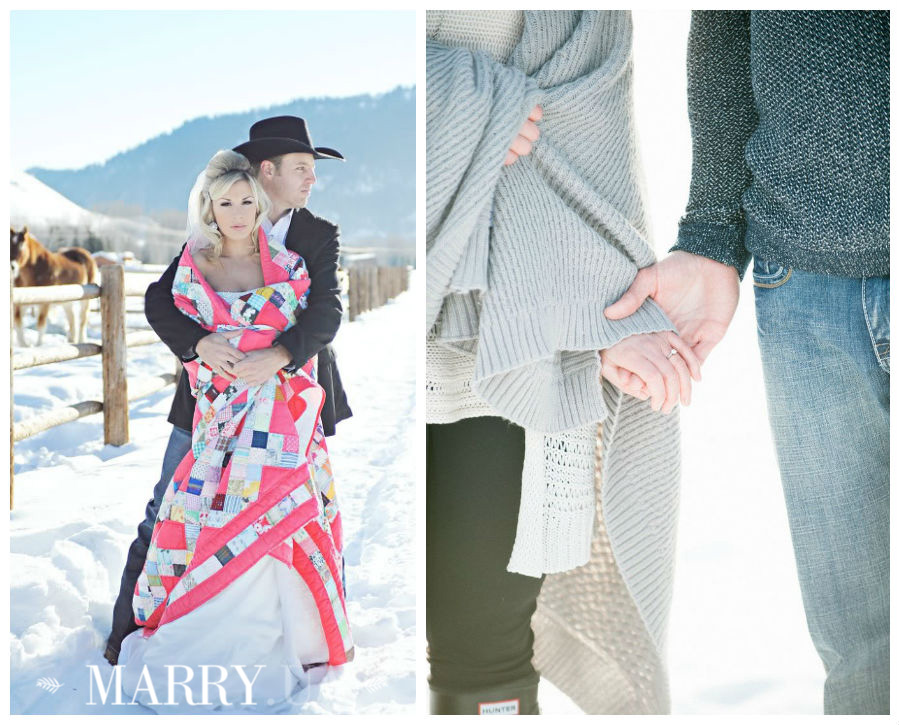 Winter wedding photo shooting plaid and blanket (3)