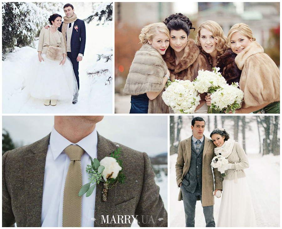winter wedding coat photo