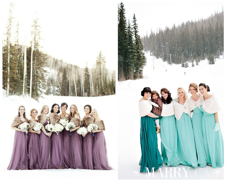 winter wedding color photo