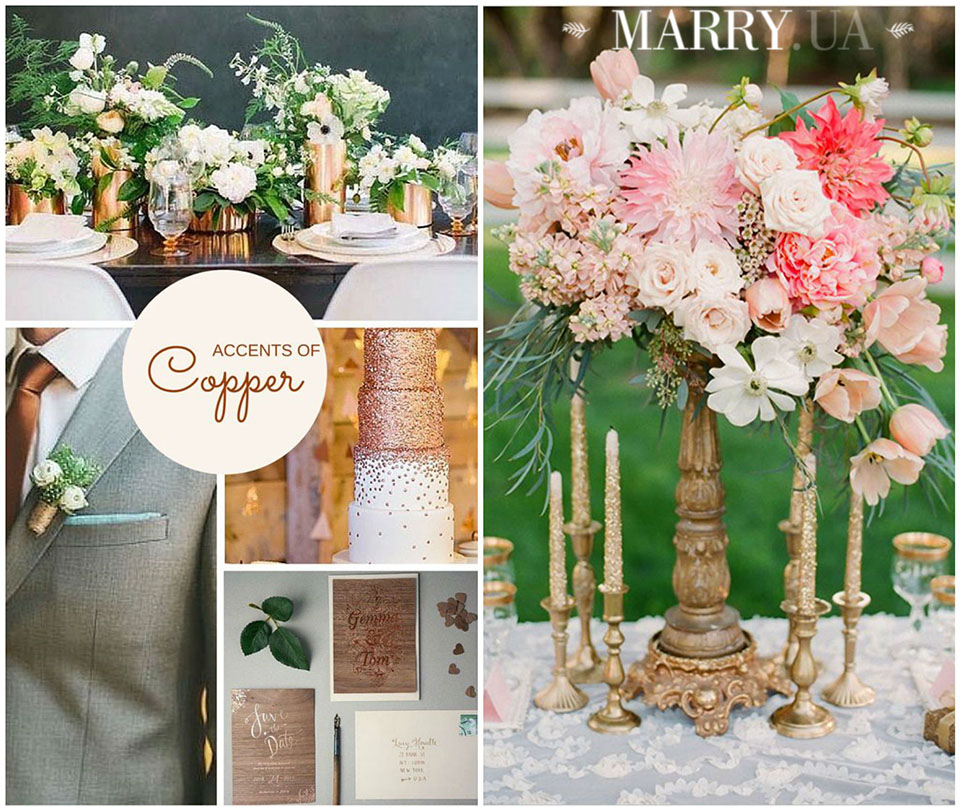 15 - copper bronze gol wedding ideas photo