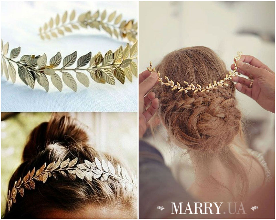 30 - leaf hair accessories for bride