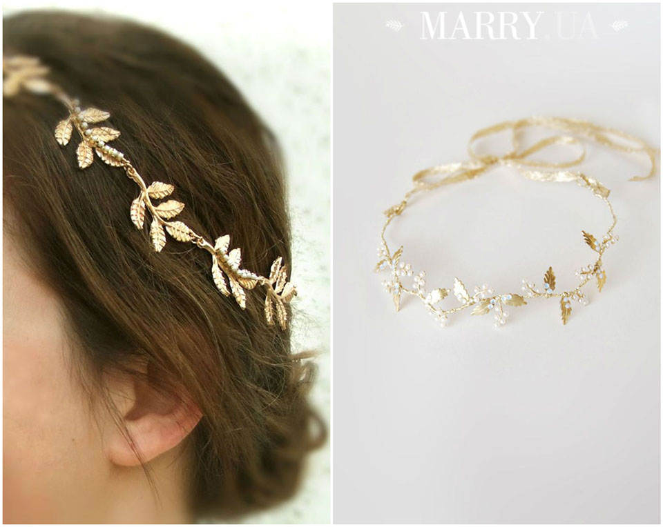 31 - leaf hair accessories for bride