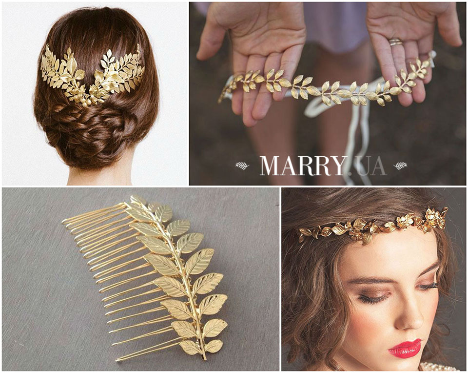32 - leaf hair accessories for bride