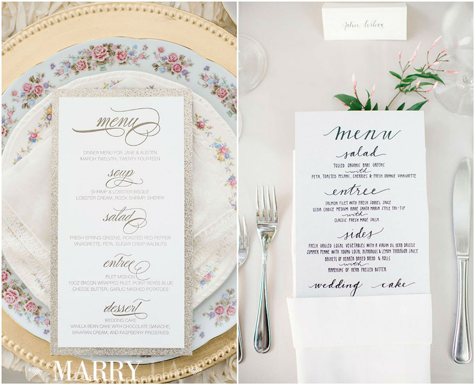 44 - wedding menu for guests photo
