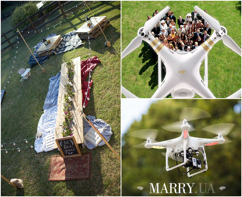 48 - quadrocopter on the wedding, photo
