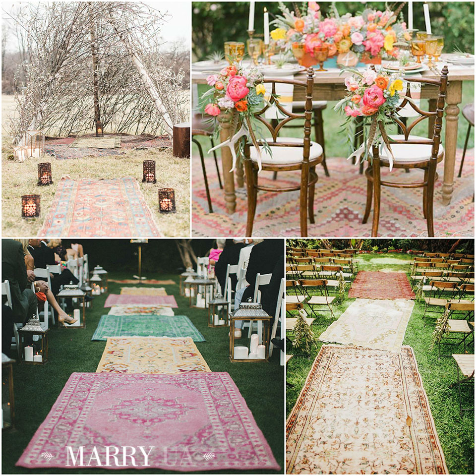 50 - boho carpet decor wedding, photo
