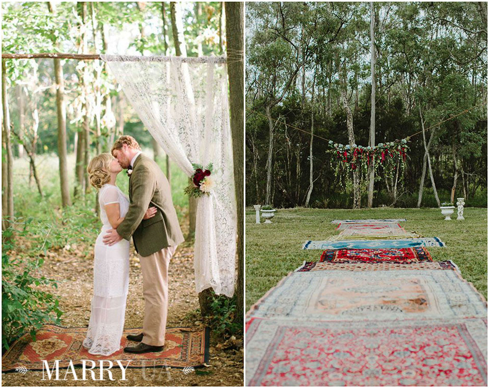 52 - boho carpet decor wedding, photo