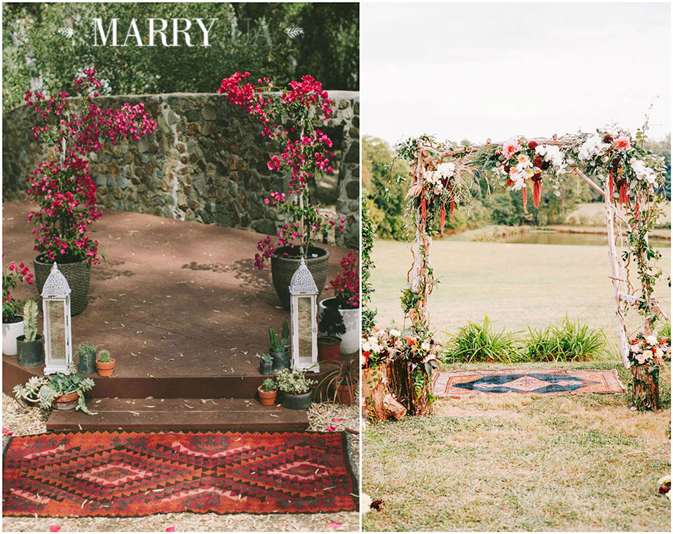 53 - boho carpet decor wedding, photo