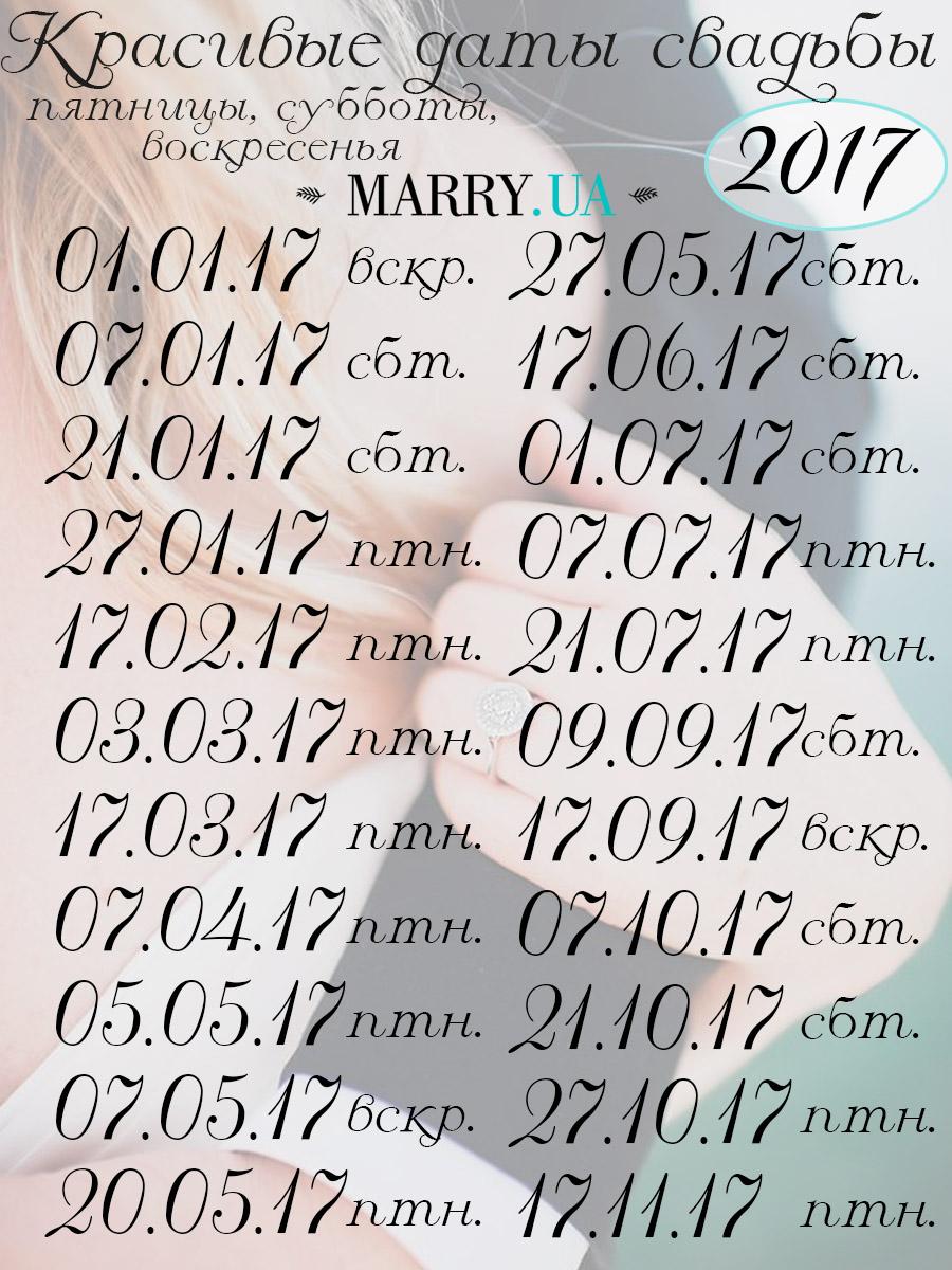 Дата свадьбы по дате