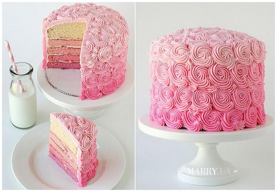 Свадебный торт одноэтажный