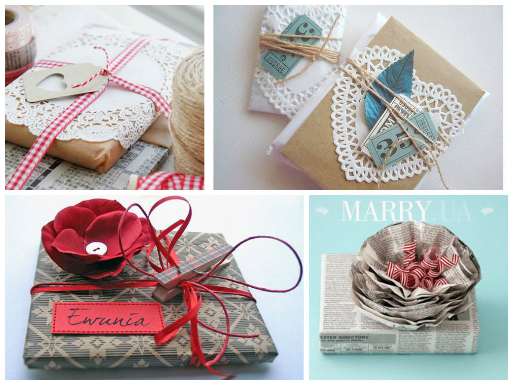 Упаковка подарков лентой как 874