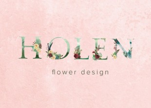 HOLEN flower design - лого