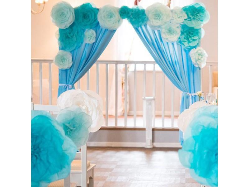 Как украсить сделать арку на свадьбу из ткани