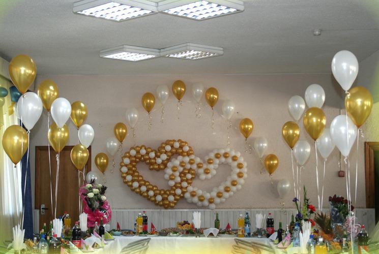 Оформление свадебных залов своими руками шарами