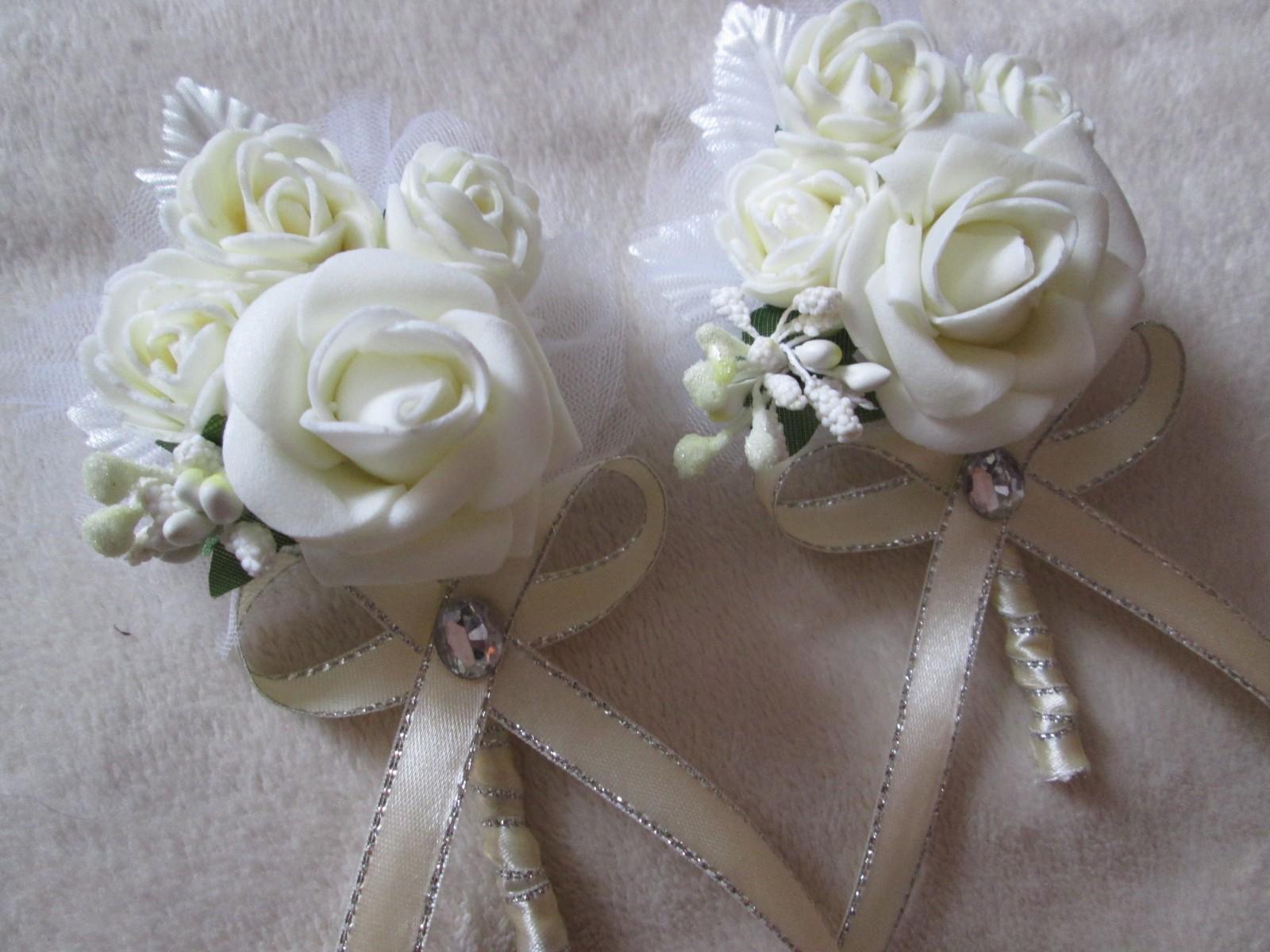 Бутоньерки для жениха и невесты своими руками