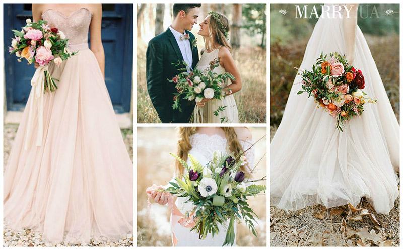 Сочетайте разнообразные добавки и цветы для создания своего уникального букета невесты в 2015 году